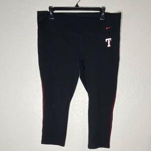 Nike Texas Rangers Black Red Black Leggings XL